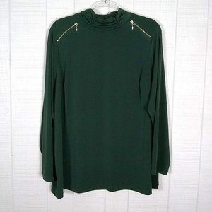 Susan Graver Stretch Knit Tunic Top Zippers